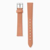 Bracelet de montre en cuir nubuck corail
